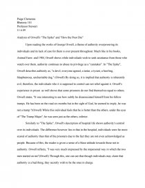 Into The Wild Essay Thesis Essay Preview Analysis Of Orwells The Spike And How The Poor Die Example Proposal Essay also Research Essay Proposal Template Analysis Of Orwells The Spike And How The Poor Die  Essay Example Essay Thesis Statement