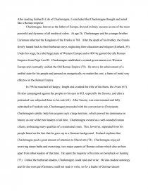 einhard s life of charlemagne essay zoom zoom
