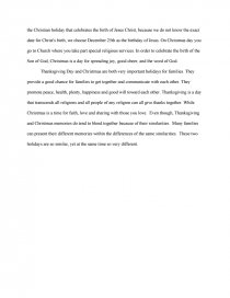 compare and contrast of thanksgiving and christmas essay zoom zoom zoom