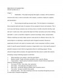 Mngt150 - Principles of Maketing Study Guide Ch.1-9