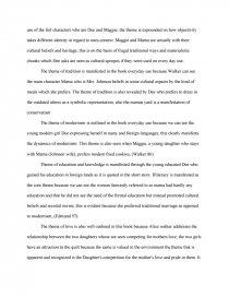 Free essay on everyday use by alice walker communication skills cv writing