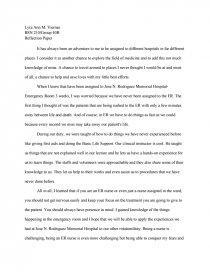 nursing reflection essay