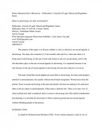Good High School Essay Examples Essay Preview Ethics In Advertising Sex Sells But Should It Teaching Essay Writing High School also How To Write A Good Essay For High School Ethics In Advertising Sex Sells But Should It  Essay Descriptive Essay Topics For High School Students