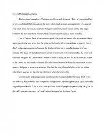 Creon's Mistakes in Antigone - Essay