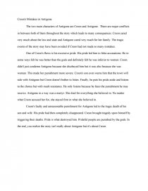 creon s mistakes in antigone essay similar essays
