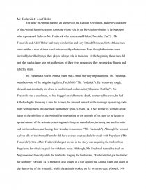 animal farm final mr frederick adolf hitler essay zoom