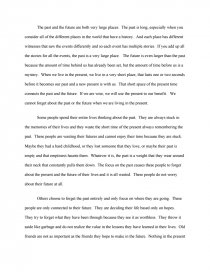 Living in the past essay resume for the post of mechanical engineer