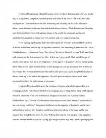 frederick douglass and ouladah equiano essay zoom