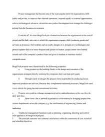 Project Management - Essay