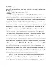 The Newspaper Essay Essay Preview Wealthy Barber Returns Political Science Essays also Computer Science Essay Topics Wealthy Barber Returns  Research Paper High School Narrative Essay Examples