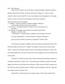 extrasensory perception essays