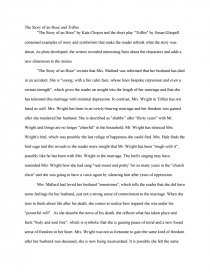 the story of an hour and trifles comparison essay zoom zoom zoom