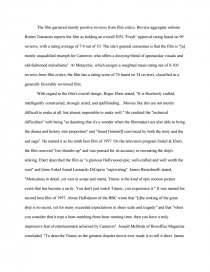 Titanic term paper eric wolfram dance resume