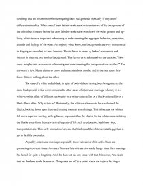 Argumentative Essay On Interracial Marriages Essay
