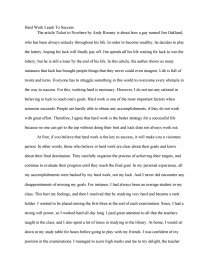 essay on hard work