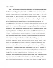 contrast basketball and wrestling essay similar essays