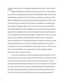 Sexual harassment essays mpp application essay