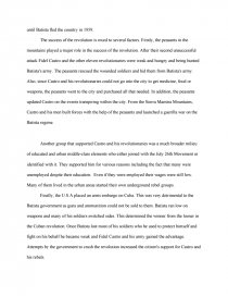 Essay On Religion And Science Zoom Zoom Zoom Zoom Zoom  High School Dropout Essay also Thesis Of An Essay Area Of Research What Were The Causes Of The Cuban Revolution And  Health And Fitness Essay