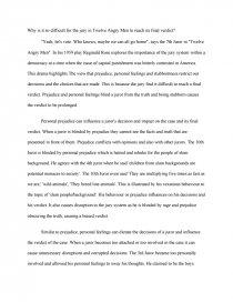 twelve angry men essay