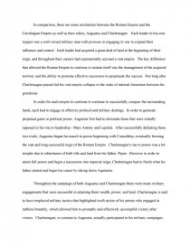 Roman Empire And The Carolingian Empire  Essay Zoom Zoom The Yellow Wallpaper Analysis Essay also Synthesis Essay  Persuasive Essay Sample High School