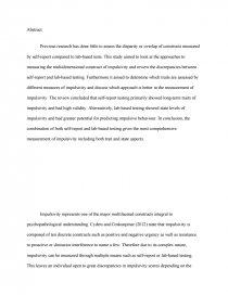 personality and impulsivity essay zoom