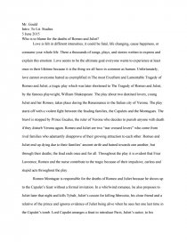 death romeo and juliet essay
