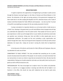 distance learning reflection essay  mistyhamel csc distance learning program reflection paper essay